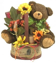 Keepsake Bear Gift Basket For Her