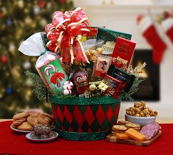 A Gourmet  Christmas Holiday Affair Gift Basket