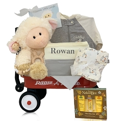 Baby Lamb Organic Personalized Wagon