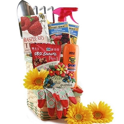 Bless This Garden Deliuxe Green Thumb Gardening Gift Basket