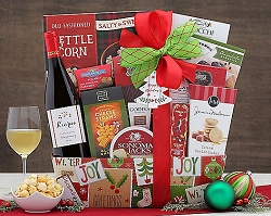 Chardonnay Wine Christmas Holiday Gift Basket