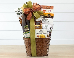 Chardonnay Wine and Sweet Gift Basket