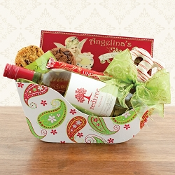 Christmas Sleigh Ride Wine Gift Basket