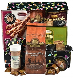 Deluxe Holiday Coffee Lovers Gift Basket