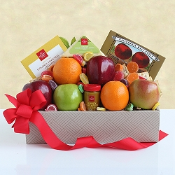 Fruit Cheese Delight Gift Basket
