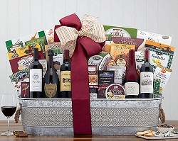 Gift Of Excellence Fine Wine and Champagne Collection Gift Basket