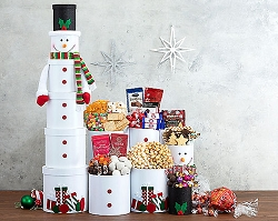 Deluxe Frosty Snowman Gift Tower