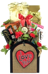 I Love You:  Romantic Gift Basket