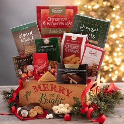 Merry And Bright  Gourmet Holiday Gift Basket