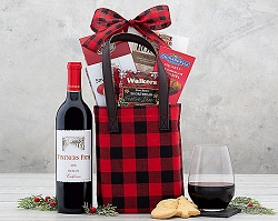 Merlot  Wine Holiday Gift Tote