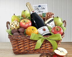Organic Cider fruit and Cheese Gift Basket