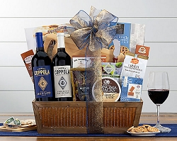 Red Wine Duet Coppola Diamond Collection Gift Basket