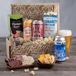 Snacks and Beer Gift Box - Three Tall Beers