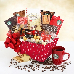 STARBUCKS CHRISTMAS MORNING GIFT BASKET