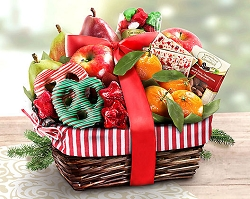 Sweets and Fruit Delights Gift Basket