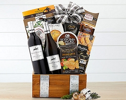 Vineyards California Gourmet and Wine Basket