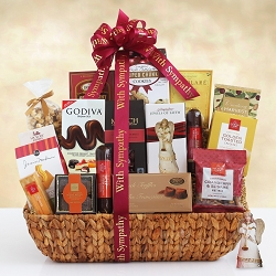 With Sympathy; Peace Blessings Sympathy Gift Basket