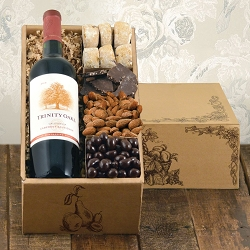 California Classic: Red Wine & Chocolate Gift Basket