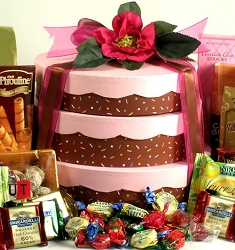 Three Layer Cake Gift Tower