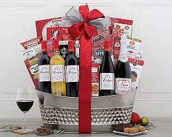 Christmas Holiday Magic Wine Gift Basket