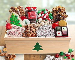 Christmas Tree Sweets Gift Crate