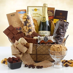 Sparkling Cider and Chocolate Gift Basket