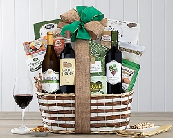 Deluxe Cellar Trio Wine Gift Basket