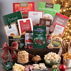 Deluxe Christmas Holiday Gourmet Gift Basket