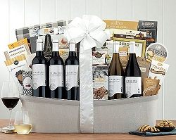 Deluxe Vineyards California Fine Wines Gift Basket