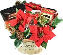 Flowers & Garden Gourmet Holiday Gift Basket