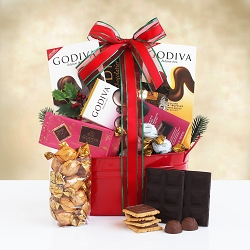Godiva Holiday Delights Gift Basket