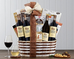 Vineyards Quartet Wine Collection Gift Basket