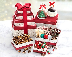 Holiday Candy Shoppe Fruit & Sweets Gift Tower