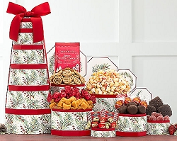 Holiday Charms: Christmas Holiday Gift Tower