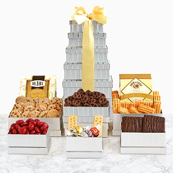 Holiday Season Dazzling Gourmet Gift Tower