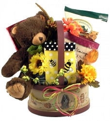 Honey and Sweet Bear Gift Basket For Her