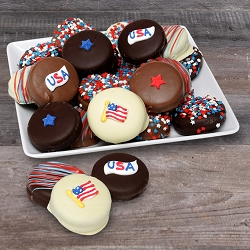 USA Patriotic  Chocolate Covered Oreos Cookies