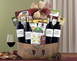 Red Wine Quartet Collection Gift Basket