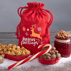 Season's Greetings Reindeer Holiday Snack Gift