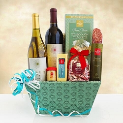 Taste of California Gourmet and Wine Gift Basket