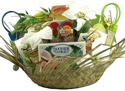 Tropical Christmas Holiday Gift Basket
