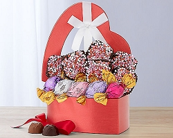 Valentine's Day Truffles and Brownies Gift Basket