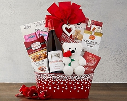 All My Love: Chardonnay Valentine Wine Gift Basket