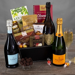 Veuve Clicquot Yellow Label Champagne Gift Basket