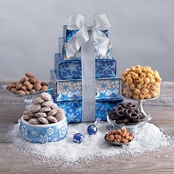 Winter Wonderland Sweet & Snack Holiday Gift Tower