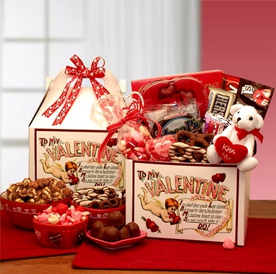 With Love To My Valentine Gift Basket