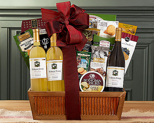Favorites White Wine Trio Gift Basket