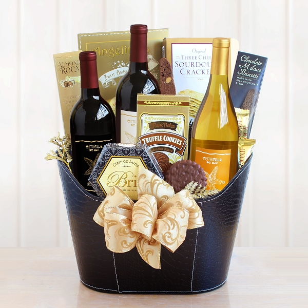 Wine Country Elegance Gourmet and Wine Gift Basket