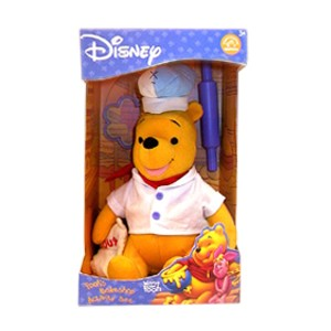 Collectible Disney Pooh Baker Bear Plush Boxed