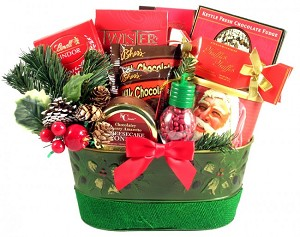 A Christmas Surprise Holiday Gift Basket